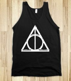 Deathly Hallows (Dark Vintage Tank) - Fun, Funny, & Popular - Skreened T-shirts, Organic Shirts, Hoodies, Kids Tees, Baby One-Pieces and Tote Bags