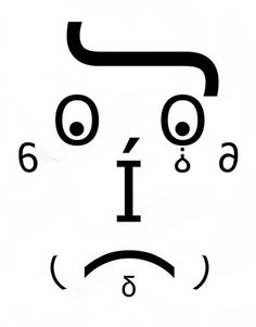 2 | A Face Drawn Using Only Letters From Comic Sans | Co.Design: business + innovation + design