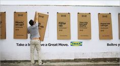Ikea's Cardboard Outdoor Posters Fold Down Into Moving Boxes | Adweek