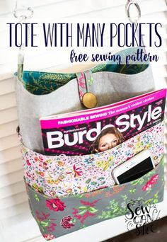 How to Sew a Tote with Many Pockets! {free sewing pattern - Part 1}