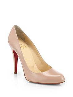 Christian Louboutin - Decollete Jazz Calfskin Pumps