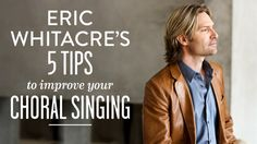 """Friday Finds Eric Whitacre's 5 tips to improve your choral singing """"Learn as much of the music as you can so that your head i. Vocal Lessons, Singing Lessons, Singing Tips, Music Lessons, Learn Singing, Choir Warm Ups, Middle School Choir, Elementary Choir, Singing Exercises"""