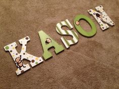 Personalized Hand Painted letters