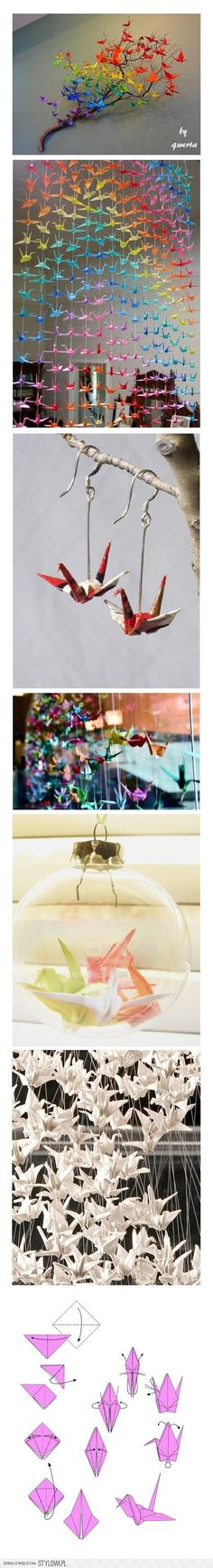 cool ideas for crane origamis :)