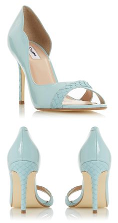 4f4579acad53a DANIELER - Textured Trim Peep Toe Sandal - turquoise. Pale Blue Turquoise  Shoes ...