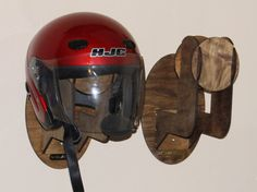 Motorcycle Helmet Wall Mount Holder by LaserDogIndy on Etsy