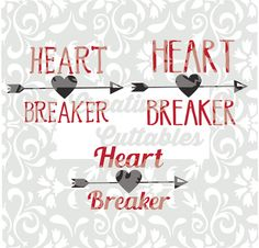 Valentine SVG Heart Breaker designs for  Silhouette or other craft cutters (.svg/.dxf/.eps)