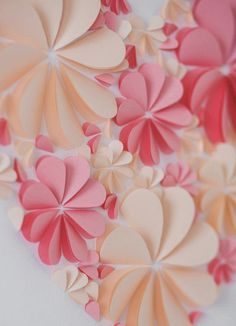 Wedding Guest Book - 3d hearts - New alternative to traditional guestbooks-Blush and Light Pink - Big Size #Pink #Wedding #PinkWedding #Paper