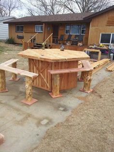 Table and log benches