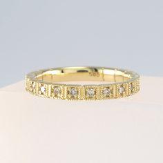 Cognac Diamond Eternity Band 14K Solid Gold, Champagne Diamond Ring, Diamond Wedding Band, Cognac Diamond Wedding Band
