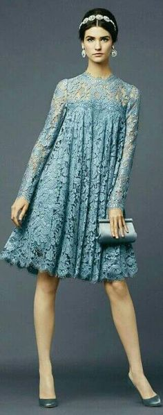 Lovely lace swing dress. Can also become a maternity dress...