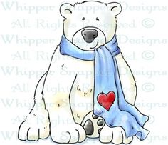 Polar Bear - Bears - Animals - Rubber Stamps - Shop