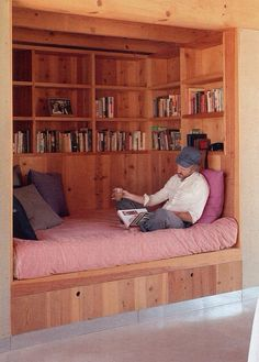 cozy place for a book and wine