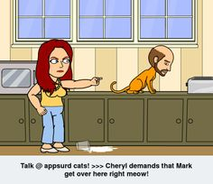 Cheryl demands that Mark get over here right meow!