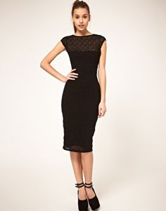 ASOS Midi Dress in Lace. Want.