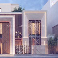 Modern Exterior House Designs, Modern Villa Design, Exterior Design, Islamic Architecture, Modern Architecture House, Facade Architecture, House Outside Design, House Front Design, Classic House Design