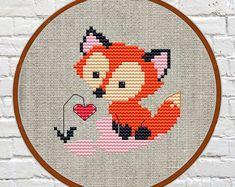 Animals Cross Stitch Printable pdf Pattern Woodland Animals