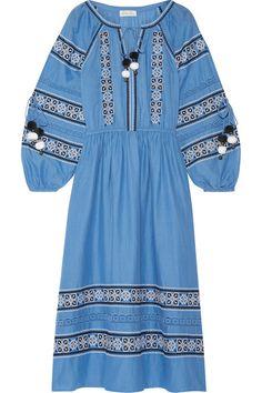 Blue cotton-voile Slips on 100% cotton Machine wash Designer color: Atlantic Blue Imported