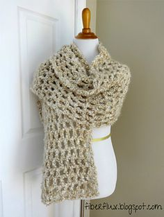 The Vanilla Chai Shawl is soft, lofty, light as air and will keep you cozy without added weight. Crocheted in a simple mesh stitch with a large hook, you have a fabulous and elegant shawl worked up in no time!