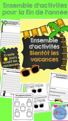 Ensemble d'activités Fin d'année/ End of the year french activity bundle Teaching French Immersion, Spanish Notes, Learning A Second Language, End Of Year Activities, Core French, French Classroom, End Of School Year, French Teacher, How To Speak Spanish