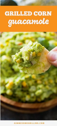 Grilled Corn Guacamole is a quick and easy appetizer recipe perfect for summer potlucks and picnics. Easy guacamole recipe with a pop of fresh sweet corn makes it an amazing and delicious combo. Guacamole Recipe Easy, Homemade Guacamole, Avocado Recipes, Quick And Easy Appetizers, Easy Appetizer Recipes, Yummy Appetizers, Dip Recipes, Easy Recipes, Gucomole Recipe