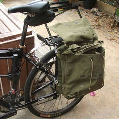 Ideas for DIY Bike Panniers (Saddlebags) for commuting