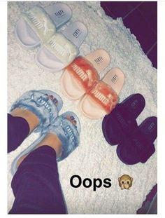 Inspiring Image on We Heart It Sock Shoes, Cute Shoes, Me Too Shoes, Shoe Boots, Shoes Heels, Puma Fenty, Fenty Rihanna, Flatform, Shoe Closet