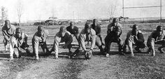 Varsity football team small town Wyoming 1935. - Imgur