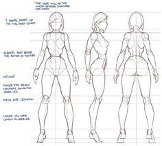 drawing woman's body