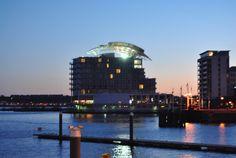 St David's Hotel & Spa, Cardiff Bay at night