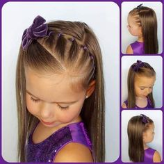 Easy Toddler Hairstyles, Girls Hairdos, Lil Girl Hairstyles, Braided Hairstyles, Creative Hair Color, Hair Dos, Kind Mode, Hair Beauty, Long Hair Styles