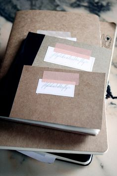 Kraft paper book covers and washi / masking tape - Editorial / Print / Graphic / Book design