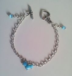 Sky blue Cat's eye bracelet on Etsy