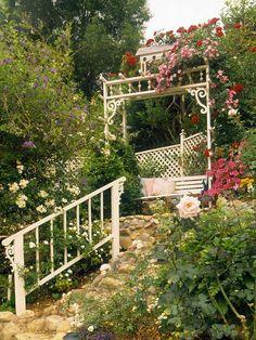 Gartengestaltungsideen Einen Garten Am Hang Anlegen | Gartenentwürfe |  Pinterest | Gartengestaltungsideen, Gärten Und Außengestaltung