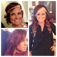 Red to blonde ombré - fusion extensions transformation!