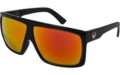 90000f6eac3 Dragon Sunglasses Fame Large Fit Eyewear - Dragon Alliance Men s Sports  Shades - Jet Red Ionized   One Size Fits All