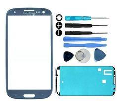 Samsung Galaxy S3 i9300 Glass Screen Lens Replacement Repair Kit Pebble Blue #UnbrandedGeneric