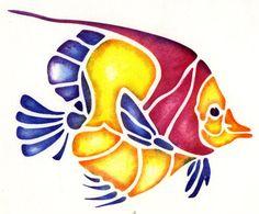 Free fish stencil