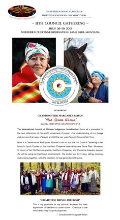 11th Council Gathering of the 13 Indigenous Grandmothers Lame Deer, Montana