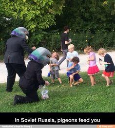 "I love these ""In Soviet Russia"" jokes"