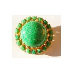 Austrian pin brooch mottled green with faux green jade rhinestones,... (£36) ❤ liked on Polyvore featuring jewelry, brooches, pin brooch, green jade jewelry, green jewelry, jade jewellery and rhinestone jewelry