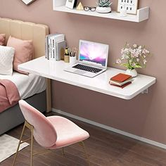 Folding Study Table, Small Study Table, Shelves In Bedroom, Bedroom Desk, Pinterest Room Decor, Study Table Designs, Wall Mounted Table, Dressing Table Design, Convertible Furniture