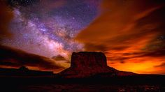 Milky Way Over Monument Valley.