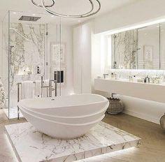 White bath modern