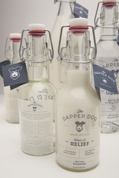 The dapper dog packaging bottle
