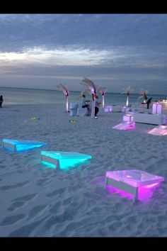 Light up corn hole... Such a great idea!! lighting ideas and inspirations for your house party| The Coolest Party Lighting for 2015 | www.delightfull.eu