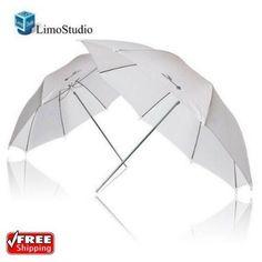 "LimoStudio 2x 33"" Studio Lighting Umbrellas Translucent White Soft Umbrella | Cameras & Photo, Lighting & Studio, Light Controls & Modifiers | eBay!"