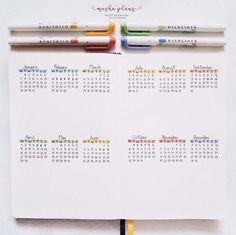 How To Plan Your Year With Bullet Journal Future Log | Masha Plans #mashaplans #bulletjournal #bujoideas