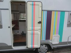 My Happy Caravan covered with Masking Tape