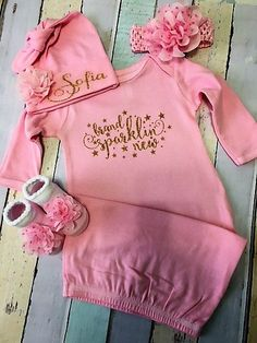 Baby girl coming home from the hospital outfit  by Sassydoodlebaby